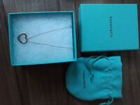 Tiffany heart necklace. Good as new. Just needs a clean with a silver cloth.