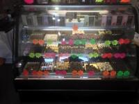 Cooled fridge display counter