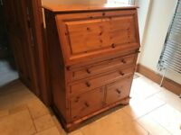 Bureau Writing Desk, Solid Pine, As New - Will accept offers