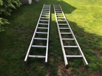 Double extension ladder, aluminium 30 TREAD