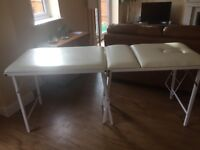 Massage table (Mercia), good condition, own carry case with handle.