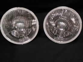 7 Inch Head Lights set of 2 Hella JEEP Wrangler JK without sidelight bulbholder