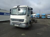 12 TON DAF LF45-180 CHASSIS CAB IDEAL FOR SLIDE BACK