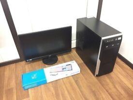 Custom Built Gaming Computer PC, Monitor and accessories (intel i5, 8GB RAM, 500GB HD, EAH 5450)