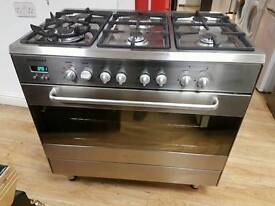 Alba Dual Fuel Range cooker 90cm width.free local delivery