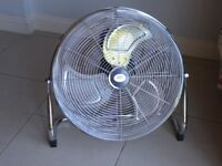 "Brand New Prem-I-Air 18"" Free Standing Air Circulator Fan - Chrome - EH0522"