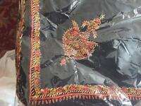 100% pure LAV-KUSH Kashmiri lamb hand embroidered brand new wool shawl