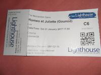 "Free ticket for Metropolitan Opera ""Romeo & Juliette"" , Lighthouse, Poole"