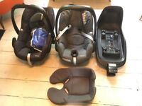 2 for one: Maxi-Cosi Pebble Plus car seat, Pebble car seat and Two-Way Fix Base - i-Size technology