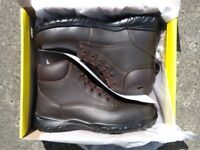 Trojan Pallas S1 Safety Boot Brown Size 8 EU 42 Lightweight Work Boots Brand New In The Box