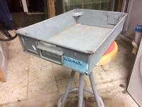 Galvanised steel parts storage bins trays