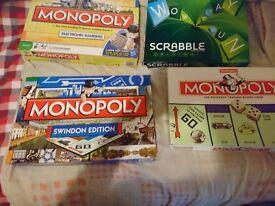 Board Games inc. Monopoly, Scrabble etc... £10 each