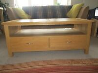 Oak coffee table/TV stand £80 ONO buyer to uplift