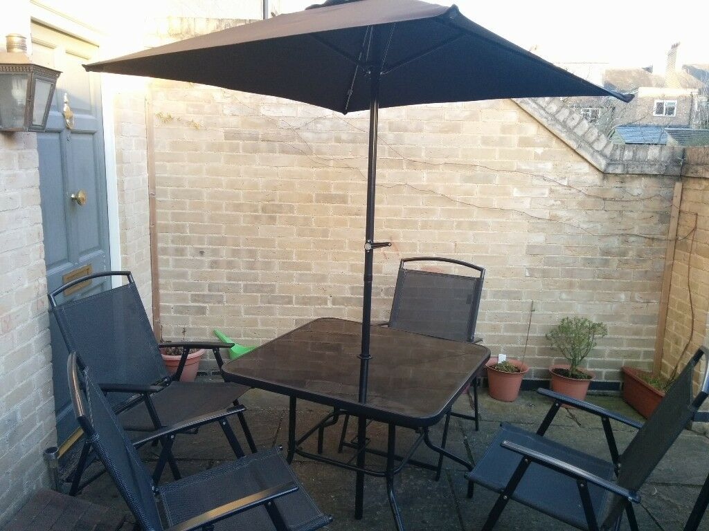 Miami 6 piece Patio Set Charcoal in mint condition - Miami 6 Piece Patio Set Charcoal In Mint Condition In Cambridge