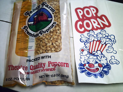 Popcorn Bags Sacks 1 Oz Concession Ballpark 100 Ea Movie Night Party Pack