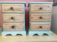 2 x 3draw bedside cabinets