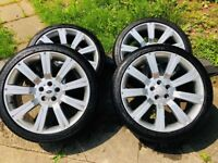 22'' set Stormer Range rover style 5x120 wheels with tyres