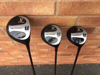 Golf clubs - set of 3 Donnay Woods (Driver, 3W, 5W)