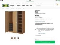 Ikea oak wardrobe ( mint condition)