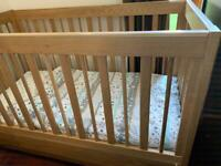 M and S Sonoma light oak cot bed