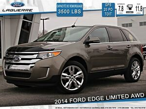 2014 Ford Edge **LIMITED*AWD*CUIR*TOIT*NAVI*CAMERA*A/C 2 ZONES**