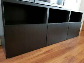IKEA Besta TV Unit in Black Brown Finish