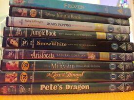 9x Ltd Edition Disney DVD's