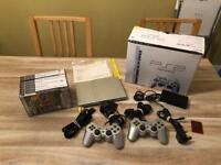 Sony PS2 Slim Silver Boxed Complete + More