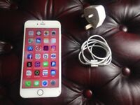 IPhone 6 Plus 16gb white unlocked to all networks,charger/USB cable/case,working order