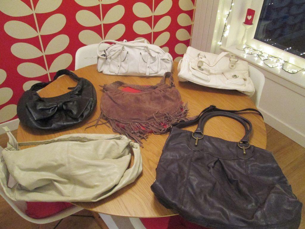 VARIOUS LADIES MODERN BAGS - FROM FRASERS NEW LOOK M S DEBENHAMS, ... b4fd102c37