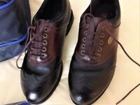 Men's Golf Shoes - STYLO Size UK7 - Euro 41 with carry bag & spare Soft Spikes