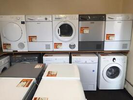 Washers and dryers from £69 with 6 month warranty