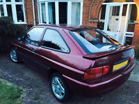 Ford Escort 1.8Si 16v. 1 owner from new. Not RS2000. 12 months MOT