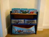 Disney planes children's kids toy storage unit fab condition