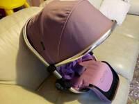 Icandy peach3 lower marshmellow seat+double converting addaptors pram/pushchair