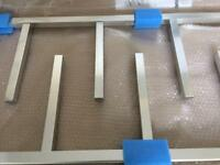 Contemporary, Designer Aluminium Chrome Towel Radiator 1100 x 500 New