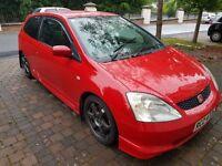 Honda Civic Type R ( EP3 182 226 197 vxr focus st glanza )