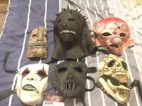 Slipknot Masks and Uniform Merchandise