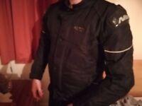 Men's motorbike Nitro jacket black armour protection size M
