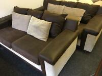 2 x 3 seater sofas can deliver