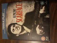 Scarface [Blu-ray] with Al Pacino, Steven Bauer, Brian De Palma