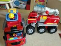 Boys fire engine toys