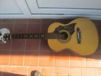 vintage acoustic guitar no strings for spares / repairs