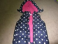 Jo Jo Maman Puffer Gillet Aged 4-5 years