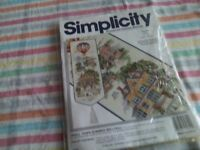 New counted cross stitch kit of a bell pull called summer small town. for sale  Kent