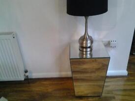 MIRROR LAMP TABLE