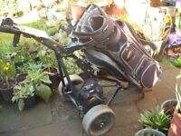 Battery Run Powakaddy Golf Trolly (with charger) Full Working Order