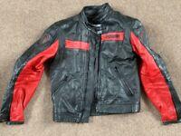 Ducati leather motorcycle jacket.