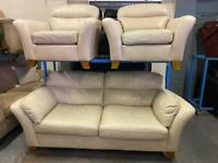 DESIGNER LEATHER SOFA SET IN NICE CONDITION 3-1-1 seater