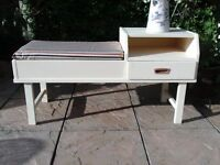 Retro Telephone Table with Seat and Draw